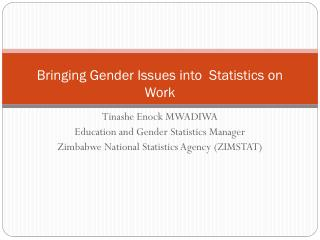 Bringing Gender Issues into  Statistics on Work