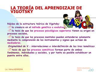 LA TEORÍA DEL APRENDIZAJE DE VIGOTSKY
