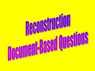 Reconstruction Document-Based Questions