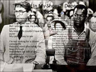 """""""Walking In My Shoes""""- Depeche Mode"""
