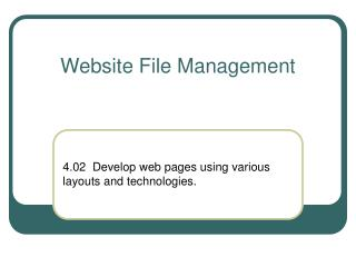 Website File Management