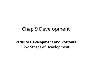 Chap 9 Development