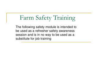 Farm Safety Training