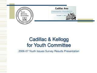 Cadillac & Kellogg for Youth Committee 2006-07 Youth Issues Survey Results Presentation
