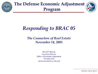 The Defense Economic Adjustment Program