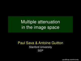 Multiple attenuation  in the image space