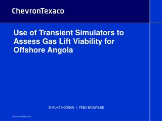 Use of Transient Simulators to Assess Gas Lift Viability for Offshore Angola