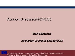 Vibration Directive 2002/44/EC