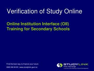 Verification of Study Online