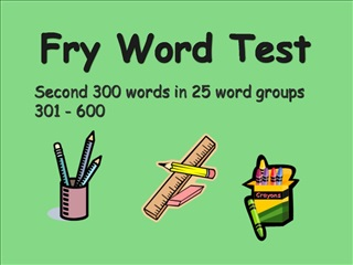 Fry Word Test