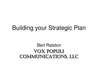 Building your Strategic Plan