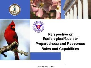 Perspective on Radiological/Nuclear  Preparedness and Response:  Roles and Capabilities