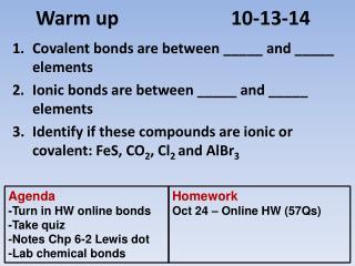 Warm up 10-13-14