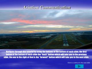 Aviation Communication