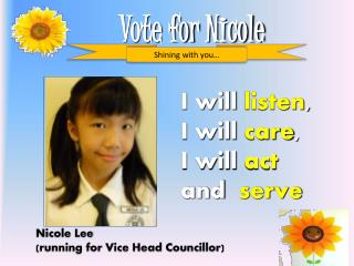 Vote for Nicole