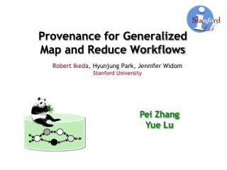 Provenance for Generalized Map and Reduce Workflows
