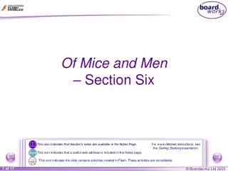 Of Mice and Men  –  Section Six