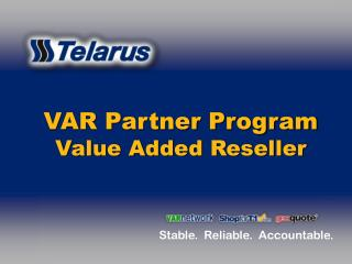 VAR Partner Program Value Added Reseller