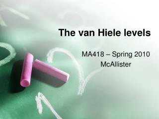 The van Hiele levels