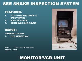 MONITOR/VCR UNIT