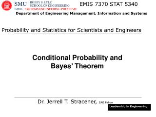 Conditional Probability and Bayes� Theorem