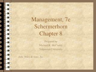 Core Concepts of Management Schermerhorn