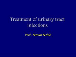 Treatment of urinary tract infections