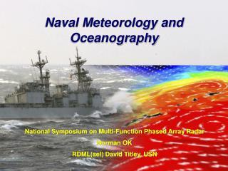 Naval Meteorology and Oceanography