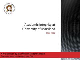 Academic Integrity at University of Maryland