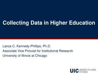 Collecting Data in Higher Education