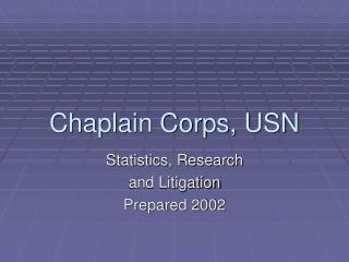 Chaplain Corps, USN