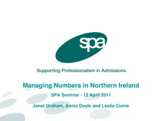 How can SPA support your planning in admissions?