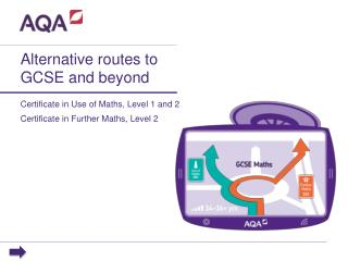 Alternative routes to GCSE and beyond