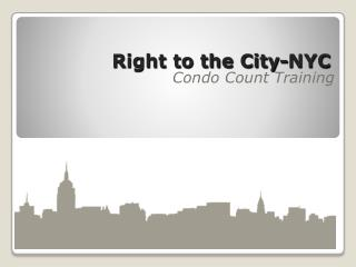 Right to the City-NYC