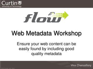 Web Metadata Workshop