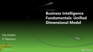 Business Intelligence Fundamentals: Unified Dimensional Model