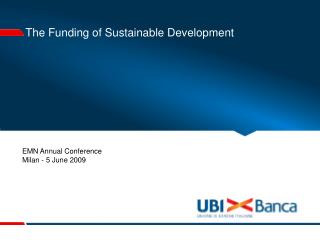 The Funding of Sustainable Development