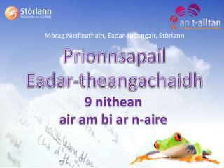 Prionnsapail Eadar-theangachaidh