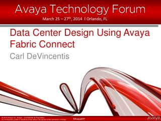 Data Center Design Using Avaya Fabric Connect