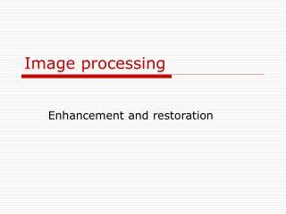 Image processing