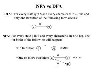 NFA vs DFA
