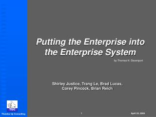Putting the Enterprise into the Enterprise System