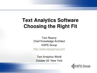 Text Analytics Software Choosing the Right Fit