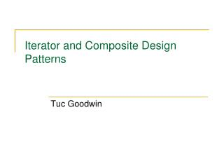 Iterator and Composite Design Patterns