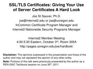 SSL/TLS Certificates: Giving Your Use of Server Certificates A Hard Look