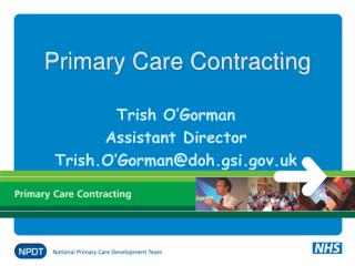 Primary Care Contracting