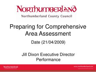 Preparing for Comprehensive Area Assessment
