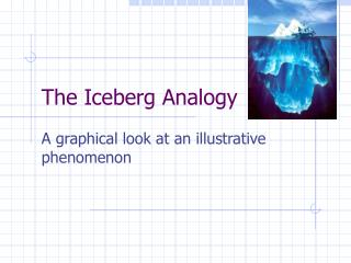 The Iceberg Analogy