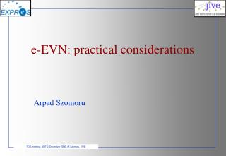e-EVN: practical considerations