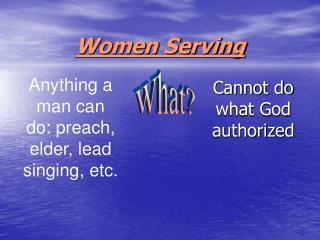 Women Serving